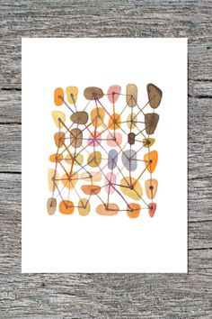 Sweet connections  Featured in West Elm  giclee by LouiseArtStudio, $25.00