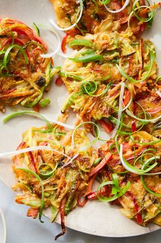Vegetable Pajeon (Korean Scallion Pancakes With Vegetables) Recipe - NYT Cooking -- good for leftover cooked vegetables! Korean Scallion Pancake, Scallion Pancakes, Vegetable Recipes, Vegetarian Recipes, Cooking Recipes, Vegetable Entrees, Cooking Gadgets, Cooking Videos, Veggies