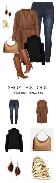 """""""plus size chic in brown"""" by xtrak ❤ liked on Polyvore featuring Mat, River Island, Pierre Hardy, Avenue, Chloe + Isabel and Lisa Eisner"""