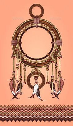 Buy Ethnic Dreamcatcher by marrishuannna on GraphicRiver. Indian dream catcher amulet with the rope, feathers and beads on a white background Motif Baroque, Baroque Design, Baroque Pattern, Baroque Art, Textile Pattern Design, Floral Pattern Vector, Pattern Art, Pattern Drawing, Textile Patterns