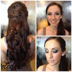 "This doll was headed to Hamilton's Prom! Mercedes did this beautiful waterfall braid. Kara did her make up with our NEW ""Oh Malibu!"" Palette! She wanted a smoky eye effect that still matched her dress. <3 <3 <3"