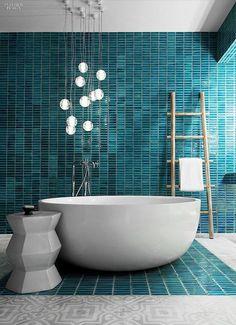 "Interior Design Magazine ( ""When designing the Yamu Resort by COMO in Phuket, Thailand, sourced everything…"" Modern Bathrooms Interior, Bathroom Design Luxury, Bath Design, Green Bathrooms, Luxury Bathrooms, Bathroom Modern, Interior Design Magazine, Bad Inspiration, Bathroom Inspiration"