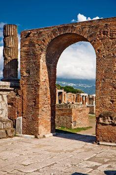 Arch of Germanicus and Macellum, Pompeii, Italy