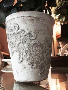 DIY - Shabby Chic Flower Pots - Tutorial