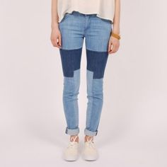 Surface To Air Denim Regular Slim Patched    Patched Jeans FTW