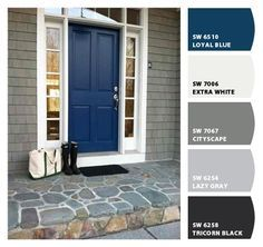 New Exterior Paint Colors For House Blue Door Curb Appeal 65 Ideas Exterior Paint Colors For House, Front Door Paint Colors, Paint Colors For Home, House Exterior, Exterior Doors