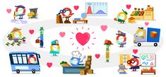 say Thank you to all Helpers during Corona Virus Epidemic Google Doodles, Thanks Teacher, Food Service Worker, Applications, Feeling Special, Childcare, Gadget, It Works, Crafts For Kids