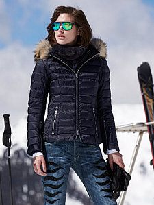 kelly-dp navy jacket with fur