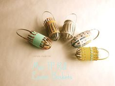 michele made me: Tutorial: Mini TP Roll Easter Baskets..There's a great tutorial and pictures for making these fantastic and awesome little recycled baskets!!