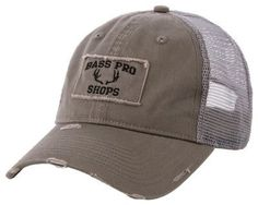 Bass Pro Shops Antlers Cap - Charcoal