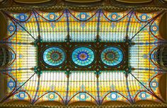 This 1899 upmarket department store with a soaring Tiffany stained-glass ceiling in the lobby was transformed into a luxury hotel in anticipation of the 1968 Olympic Games. The ceiling, which evokes the country's Mesoamerican heritage with a lively palette of turquoise and gold, was designed by French artisan Jacques Gruber and also features a Louis XV–style chandelier.