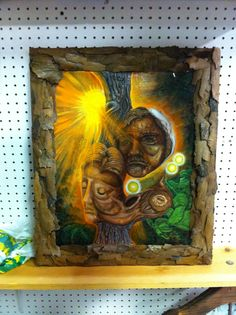 Yes I am a tree lover, so I framed it in real tree bark. Note: no trees were harmed in the making of this frame.