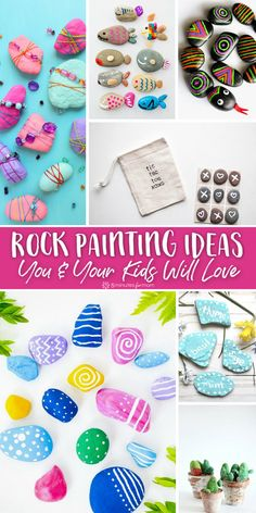 Easy Rock Painting Ideas - Unleash your creative side and get inspired with these painted rocks. #rockpainting #paintingrocks #painting #easycrafts Learning Games For Kids, Fun Crafts For Kids, Craft Activities For Kids, Projects For Kids, Diy For Kids, Crafts To Make, Easy Crafts, Craft Projects, Nature Activities