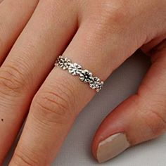 .925 Sterling Silver Ring size 11 Flower Midi Knuckle Rose Thumb Ladies New p52 #Unbranded #Band