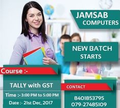 #New #Batch starts @ Jamsab Computers !!!! Course - #Tally Time - 3 PM to 5 PM Date :- 21st Dec, 2017 Contact at 8401853795 or drop an Enquiry.