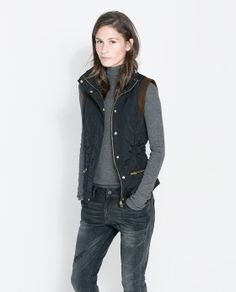 Image 2 of COMBINATION QUILTED WAISTCOAT from Zara