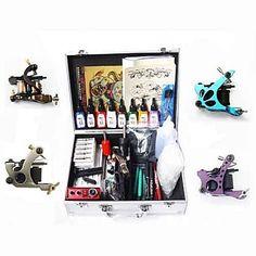 4 Machine Tattoo kit with 8 Inks | Tattoo Machine Kits