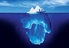 The subconscious-and-conscious-mind has been likened to an iceberg. The tip of the iceberg represents the conscious mind and the part under water represents our unconscious. We can live a full and authentic life only by making the unconscious CONSCIOUS Sigmund Freud, Tromso, Formation Hypnose, Ideas Principales, Webmaster Tools, Instagram Marketing, University Of Michigan, Foto Art, Subconscious Mind
