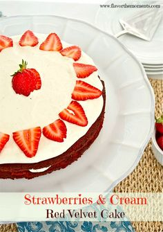 Strawberries and Cream Red Velvet Cake