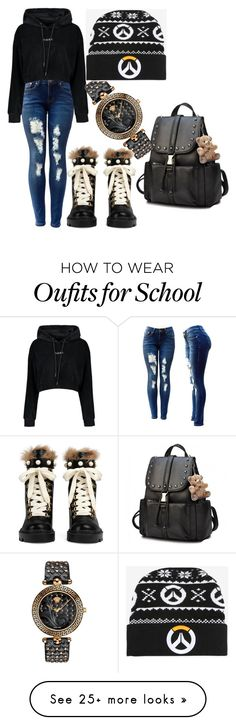"""""""Overstepping Overwatch"""" by mamamanx on Polyvore featuring Versace, Gucci and Blizzard"""