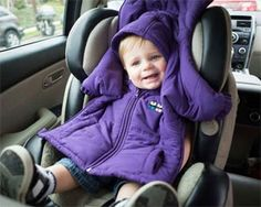 Introducing the Cozywoggle, a coat that is specially made to be worn by your children in their car seats. The invention keeps seatbelt harnesses tight for a safer ride. The Cozywoggle has the look of a coat with a wind- and water-resistant polyester outside, and it is lined with fleece for warmth and comfort. For more information check out www.cozywoggle.com.