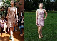 Light pink crochet dress inspired by Vanessa Montoro.