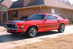 Red and Black '69 Mach I