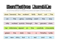 25 Best jumble sentences images in 2018 | Literacy centers, Sight