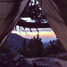 view from the tent via nativeeeatheart