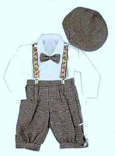 Infant & Toddler Boys Vintage Style Knickers Outfit Suspenders, Bowtie & Cap:Amazon:Clothing