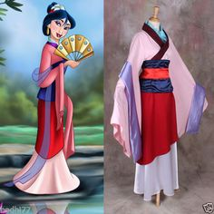 Happy halloween from costume ideas pinterest disney s hua mulan pink cosplay costume movie princess fancy party dress solutioingenieria Image collections