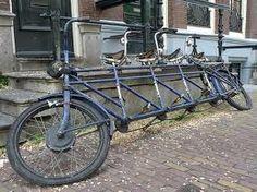 Four tandem bike in Amsterdam