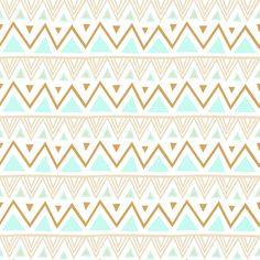 Pastel Tribal - Mint fabric by kimsa on Spoonflower - custom fabric