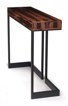 'Wishbone 2 Drawer High Table by Skram. Steel Furniture, Industrial Furniture, Custom Furniture, Table Furniture, Modern Furniture, Furniture Design, Muebles Living, Furniture Inspiration, Wood Design