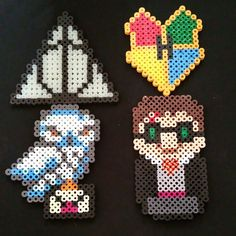 Harry Potter perler beads by Flying Saucer Crafts