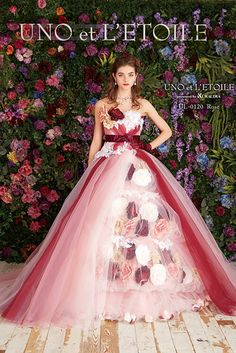 Love the colours in this gorgeous gown. Wedding Dress Patterns, Colored Wedding Dresses, Wedding Party Dresses, Beautiful Long Dresses, Pretty Dresses, Gala Dresses, Quinceanera Dresses, Pink Colour Dress, Weeding Dress