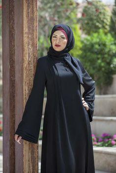 Tulip Abayas5 – Abaya noir Simple Abaya Designs, Abaya Designs Latest, Abaya Designs Dubai, Burka Fashion, Muslim Fashion, Fashion Outfits, Burqa Designs, Stylish Dresses For Girls, Hijab Fashion Inspiration