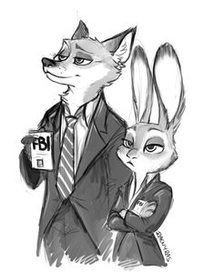 Zootopia Mulder and Scully Nick Wilde, Zootopia, Disney And Dreamworks, Disney Pixar, X Files Funny, Nick And Judy, Judy Hopps, Dana Scully, Memento Mori