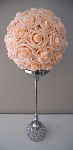 Pink Blush Bling Pearl Brooch Elegant Wedding foam by KimeeKouture