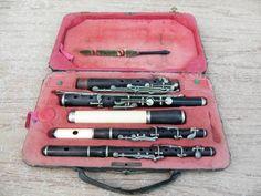 3 Stck. historische Querflöte Traversflöte im Koffer unrestauriert old flute | eBay