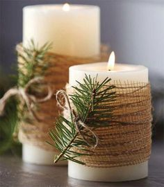 8 Minutes Simple Christmas Candles Decoration – Christmas Decorations – Christmas crafts for gifts Christmas Candle Decorations, Christmas Candles, Thanksgiving Decorations, Diy Christmas Home Decor, Diy Christmas Projects, Christmas Decorations Diy Crafts, Winter Decorations, Christmas Table Settings, New Years Decorations