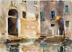 John Singer Sargent Venice, ca. 1903 Watercolor, gouache, and graphite on white wove paper Dimensions: 9 7/8 x 13 13/16 in. (25.1 x 35.1 Metropolitan Museum of Art, NYC