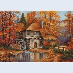 Autumn Landscape - counted cross-stitch kit  - Luca-S
