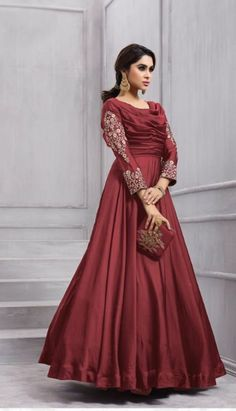 c06c544e99e Indian bollywood long gown dresses wedding wear womens party wear anarkali  L new