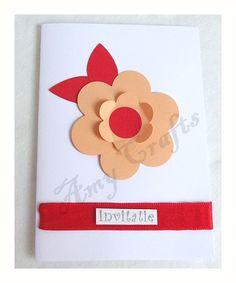 card Wedding Invitations, Cards, Ideas, Wedding Invitation Cards, Maps, Thoughts, Playing Cards, Wedding Invitation, Wedding Announcements
