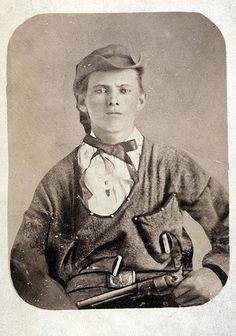 Jesse W. James in 1864 at age 17, as a young guerilla fighter.   Photograph by Taylor's Copying Company, St. Louis.  Missouri History  Museum Photographs and Prints Collections. Portraits.  N12571.