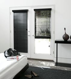 definitely want a set of black blinds for our french doors in the master bedroom