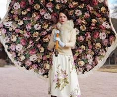Flower umbrella girl