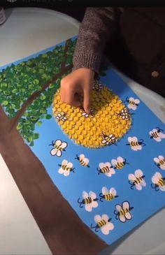 Bienenkorb basteln #sommerlichebastelarbeiten Bienenkorb basteln
