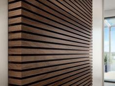 Renovierung wood slat wall diy wood slats headboard love it lit from behind vertical wood slat wall Wood Slat Wall, Wooden Wall Panels, Wood Panel Walls, Wooden Slats, Wood Paneling, Wood Feature Walls, Wood On Walls, Wooden Wall Cladding, Wall Panelling